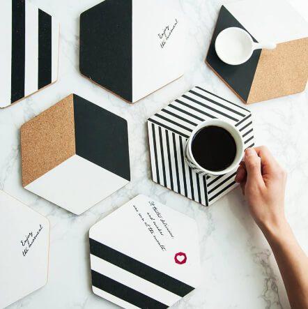 bardak altlığı üretim tasarım baskı