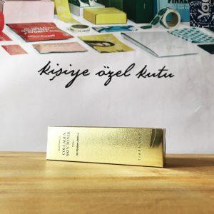 kozmetik altın yaldız kutu üretimi