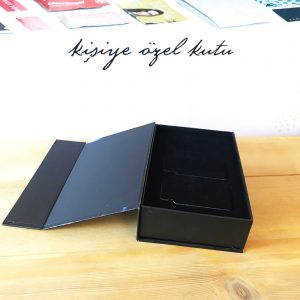 mıknatıslı siyah zemin kutu tasarımı