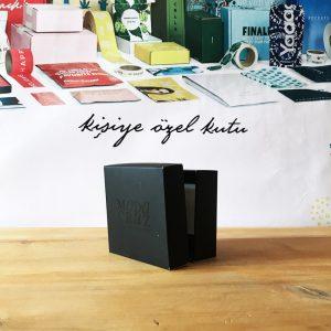siyah renk özel ürün kutusu
