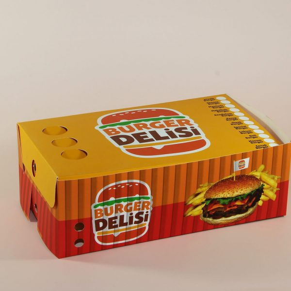 hamburger ince karton kutusu