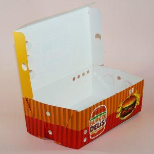 ince karton hamburger kutusu