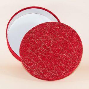kırmızı kumaş desenli özel hediye kutusu