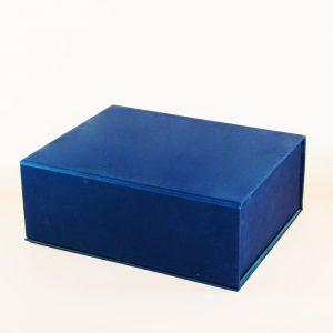 lacivert taslama mıknatıslı kutu