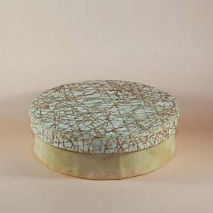 özel kumaş desenli yuvarlak kutu