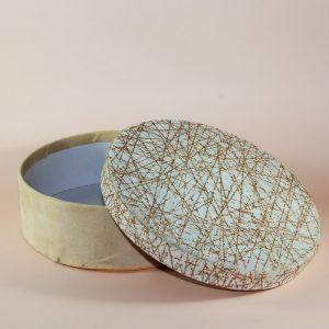 özel kumaş desenli yuvarlak hediye kutusu