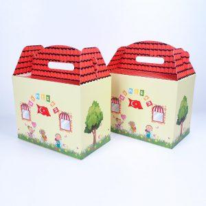 23 nisan temalı özel tasarım karton kutu